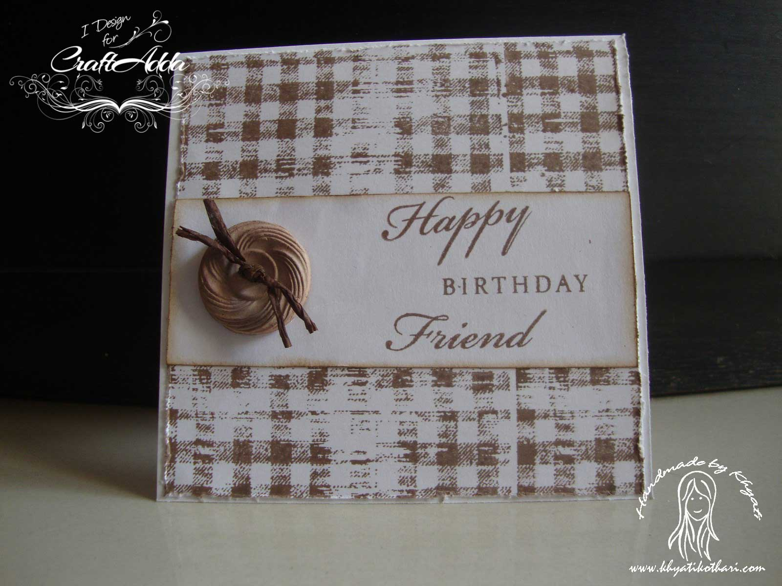 A Male Birthday Card 2