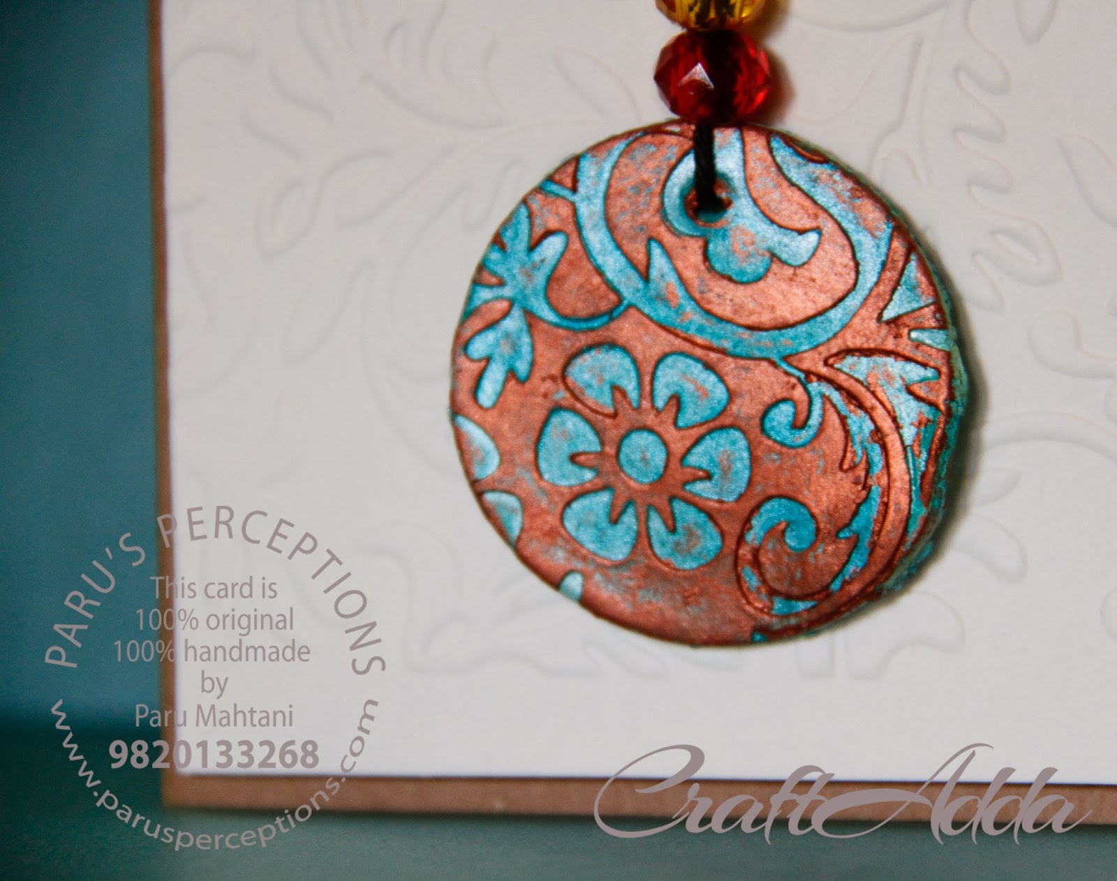 Molded clay pendant 2