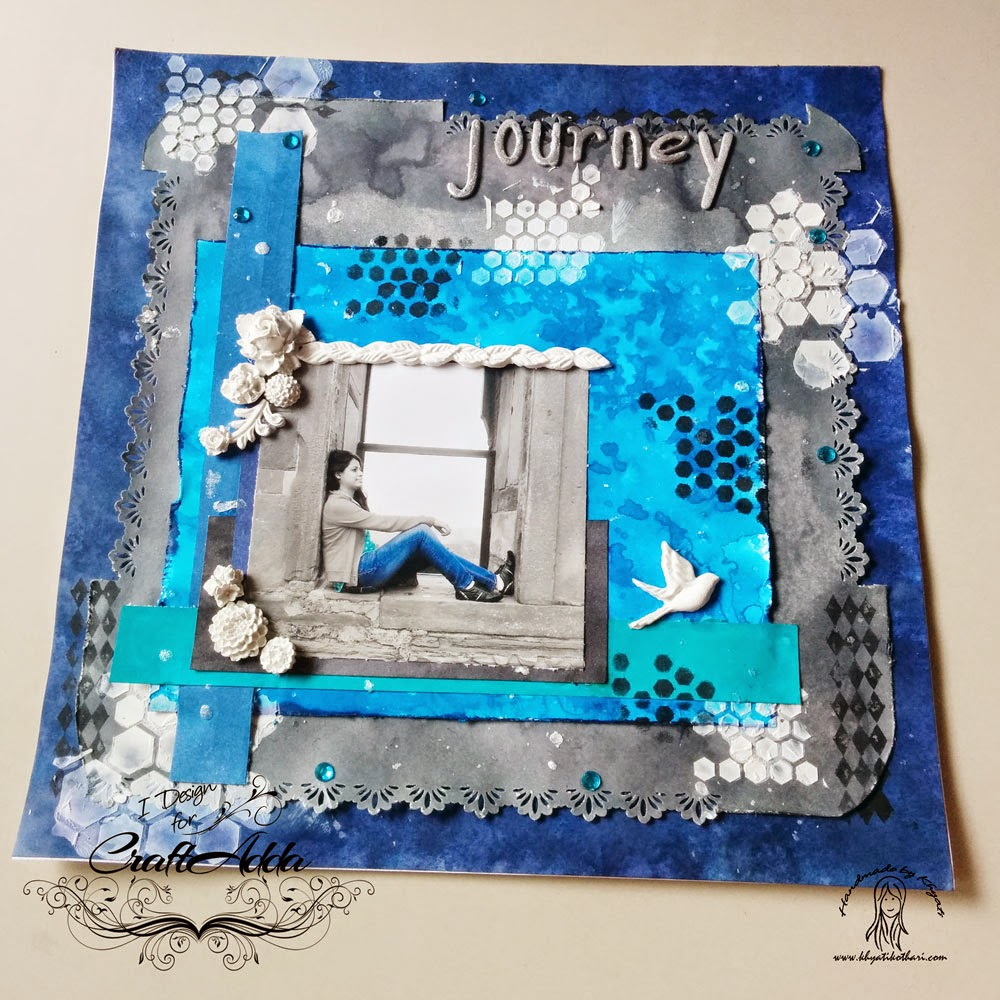A 12 by 12 Scrapbook Layout - Journey 1