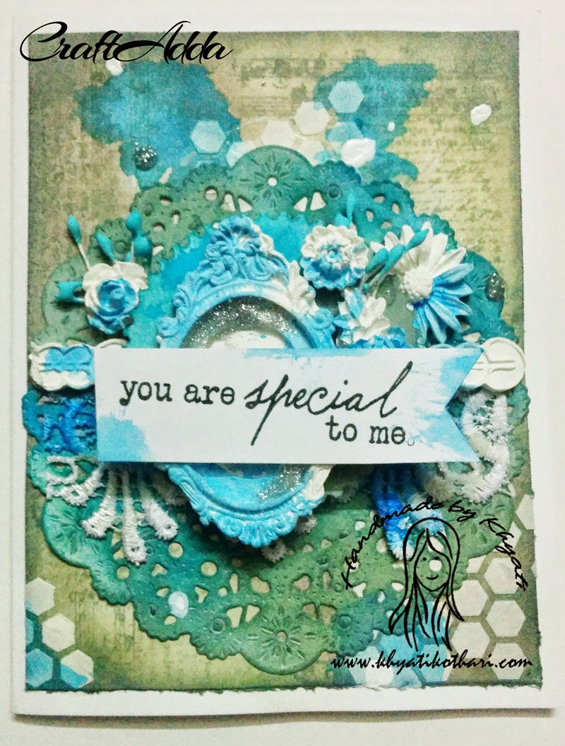 Another mixed media card with lots of layers 1