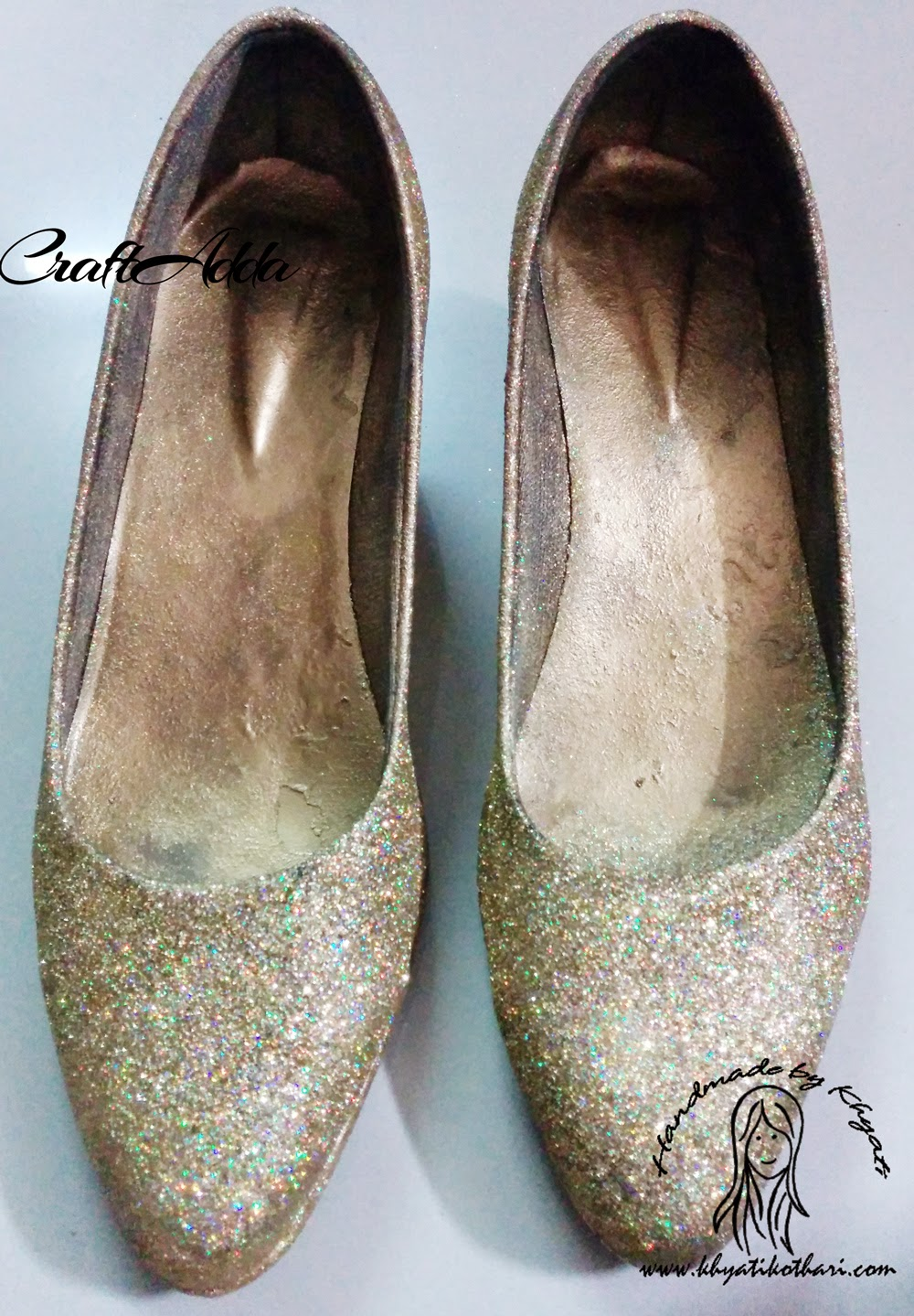 DIY Glittered Shoes 2