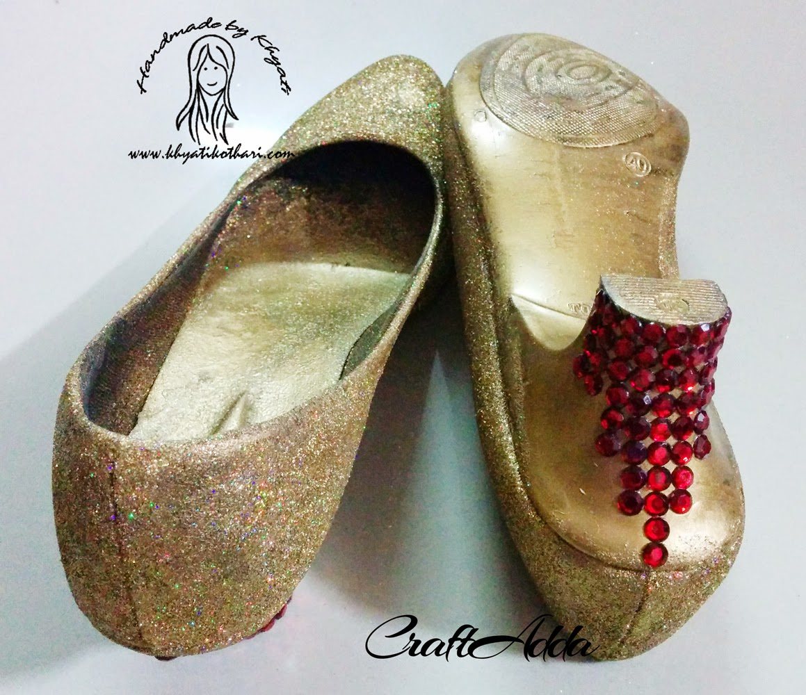 DIY Glittered Shoes 5