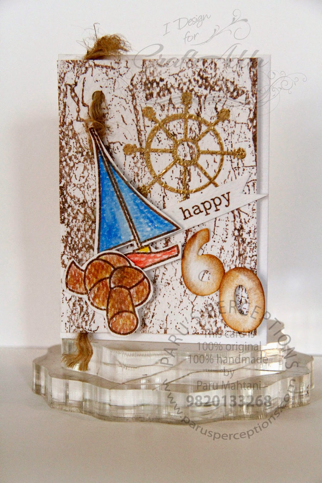 Nautical themed 60th birthday card 1