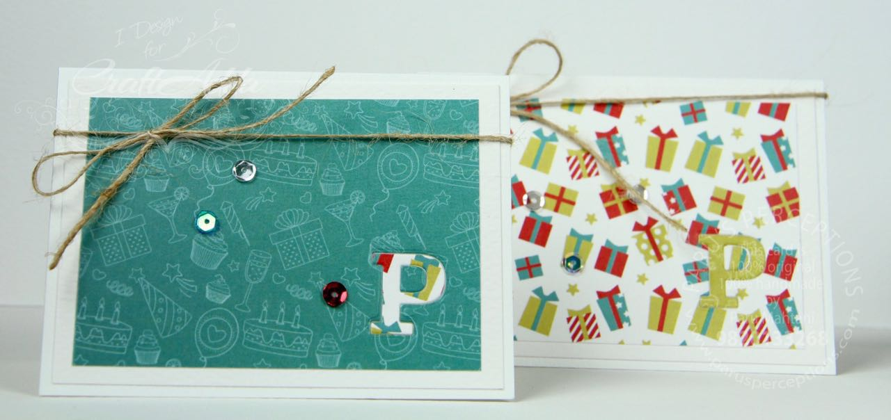 Cards using Birthday Wishes from CrafTangles 3