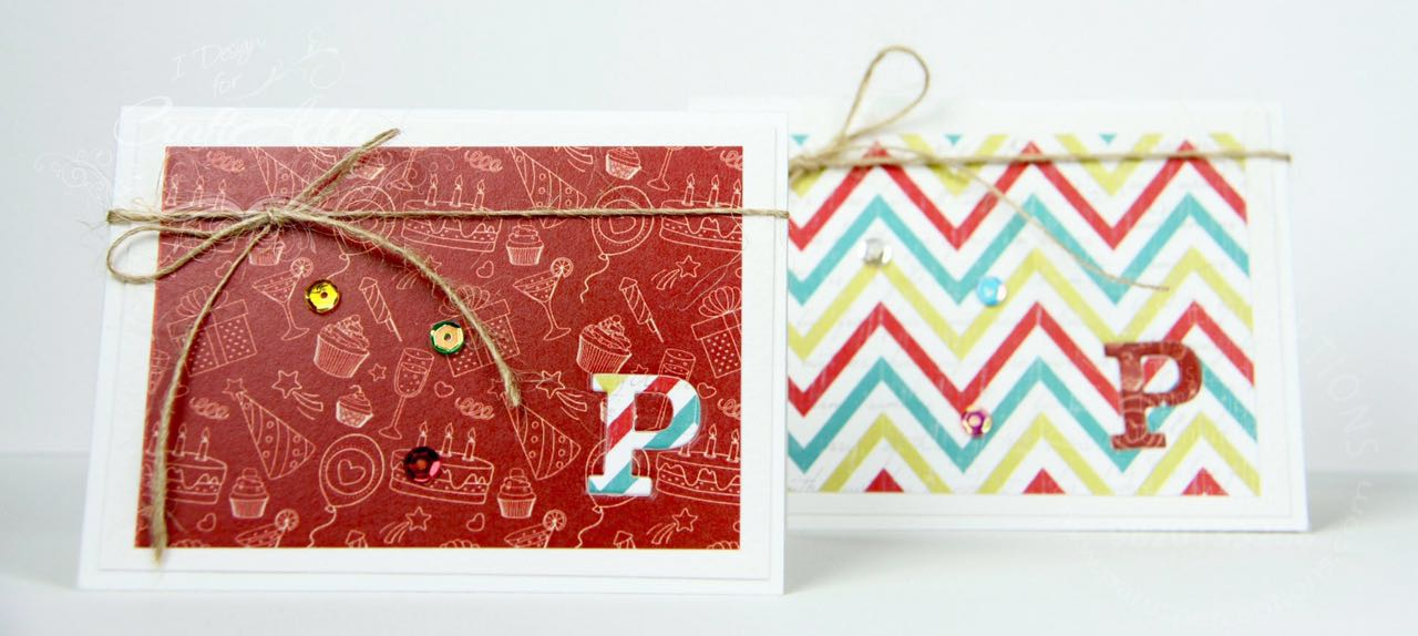 Cards using Birthday Wishes from CrafTangles 1