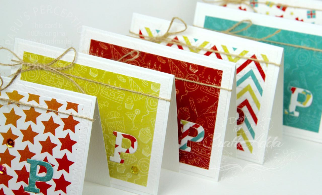 Cards using Birthday Wishes from CrafTangles 4