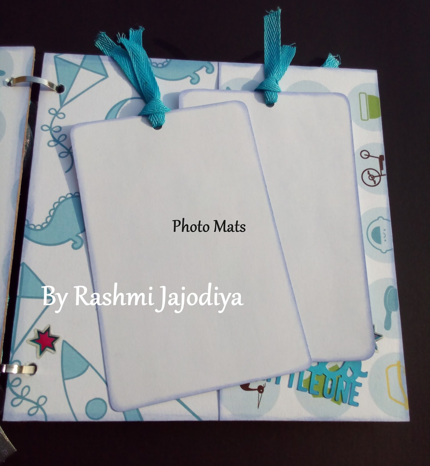 1st Year Record Book using CrafTangles Baby Boy paper collection 2