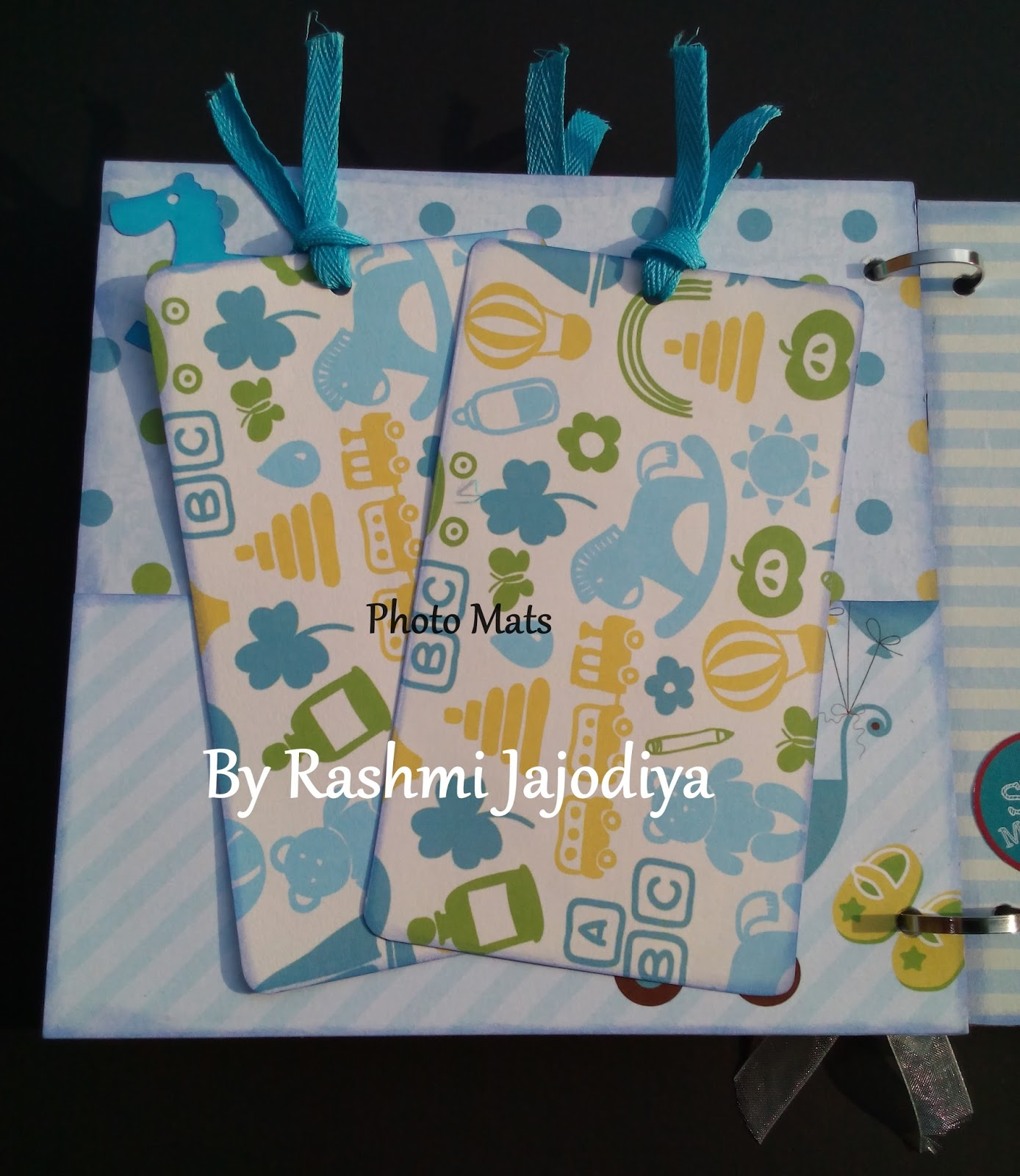1st Year Record Book using CrafTangles Baby Boy paper collection 6