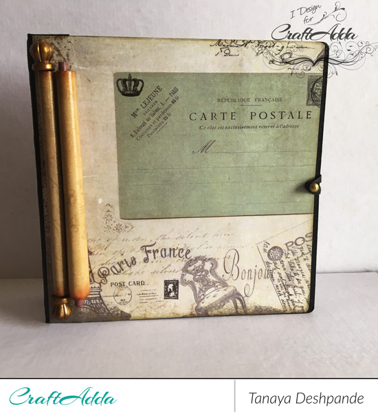 Mini album made by using vintage grunge paper by CrafTangles [Guest DT Post] 1