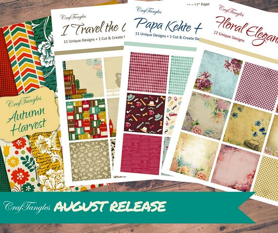 New paper packs from CrafTangles [August Release] 1