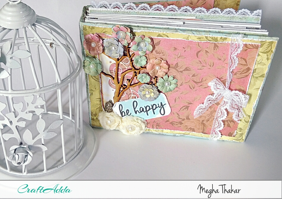 Mini Album using Aged Roses by CrafTangles 1