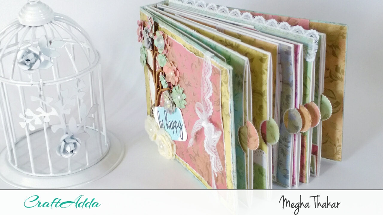 Mini Album using Aged Roses by CrafTangles 2