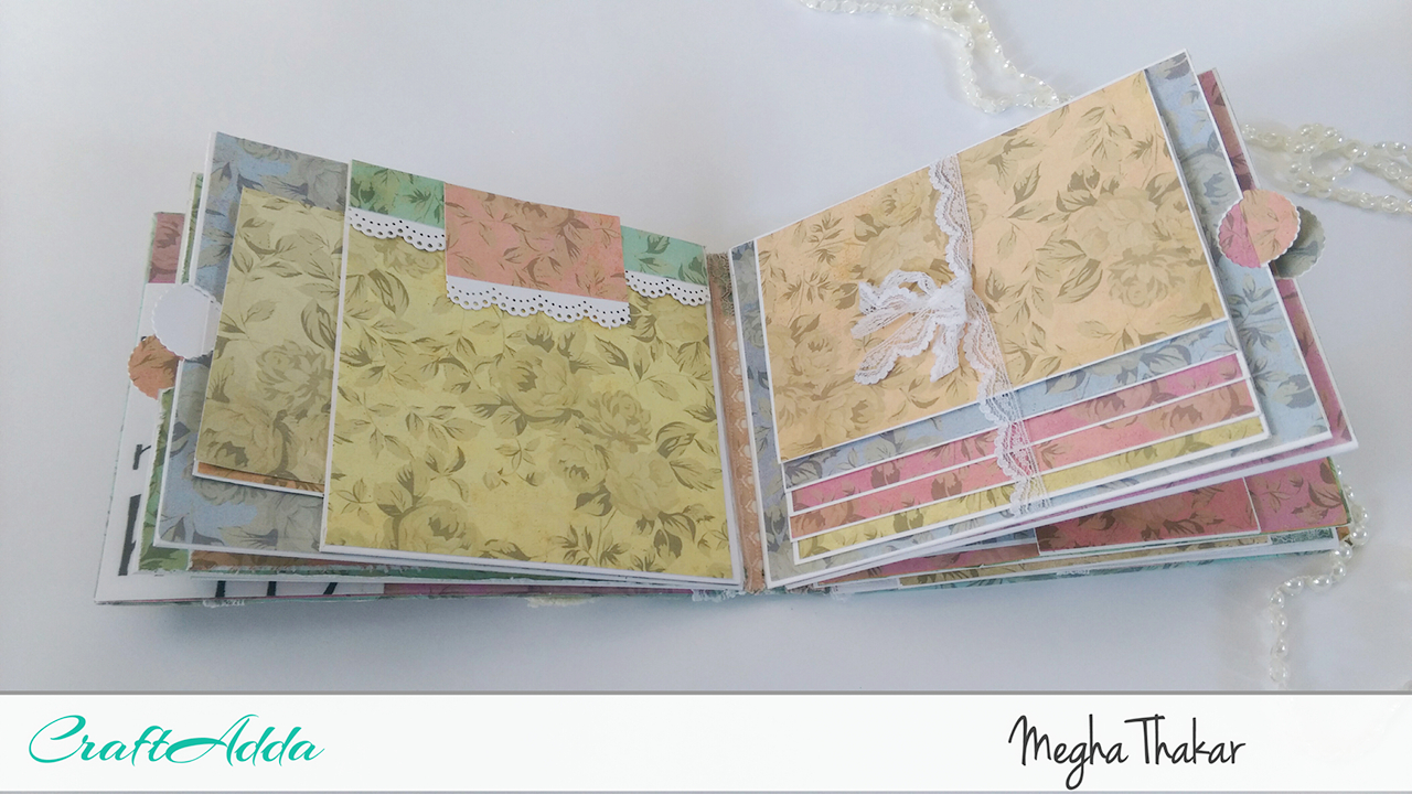 Mini Album using Aged Roses by CrafTangles 5