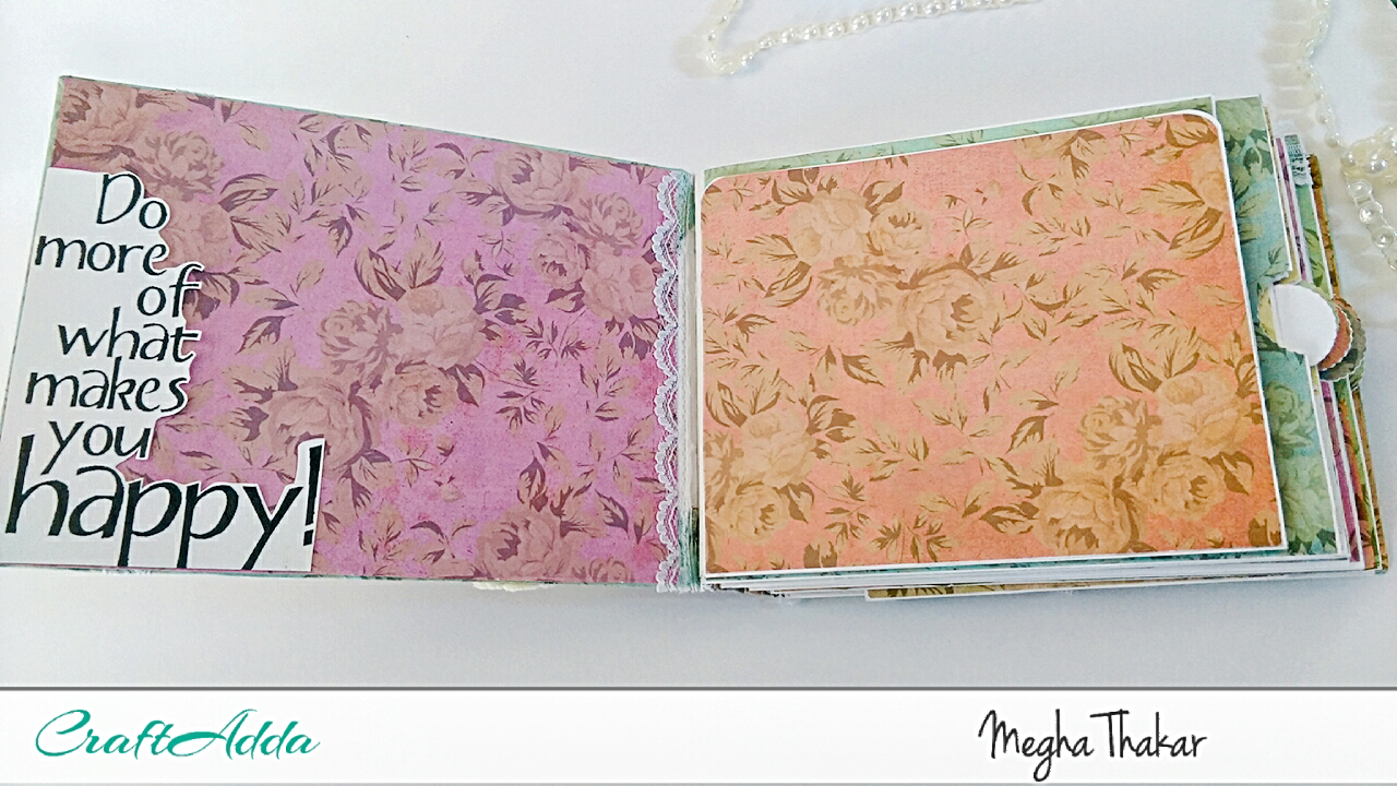 Mini Album using Aged Roses by CrafTangles 3