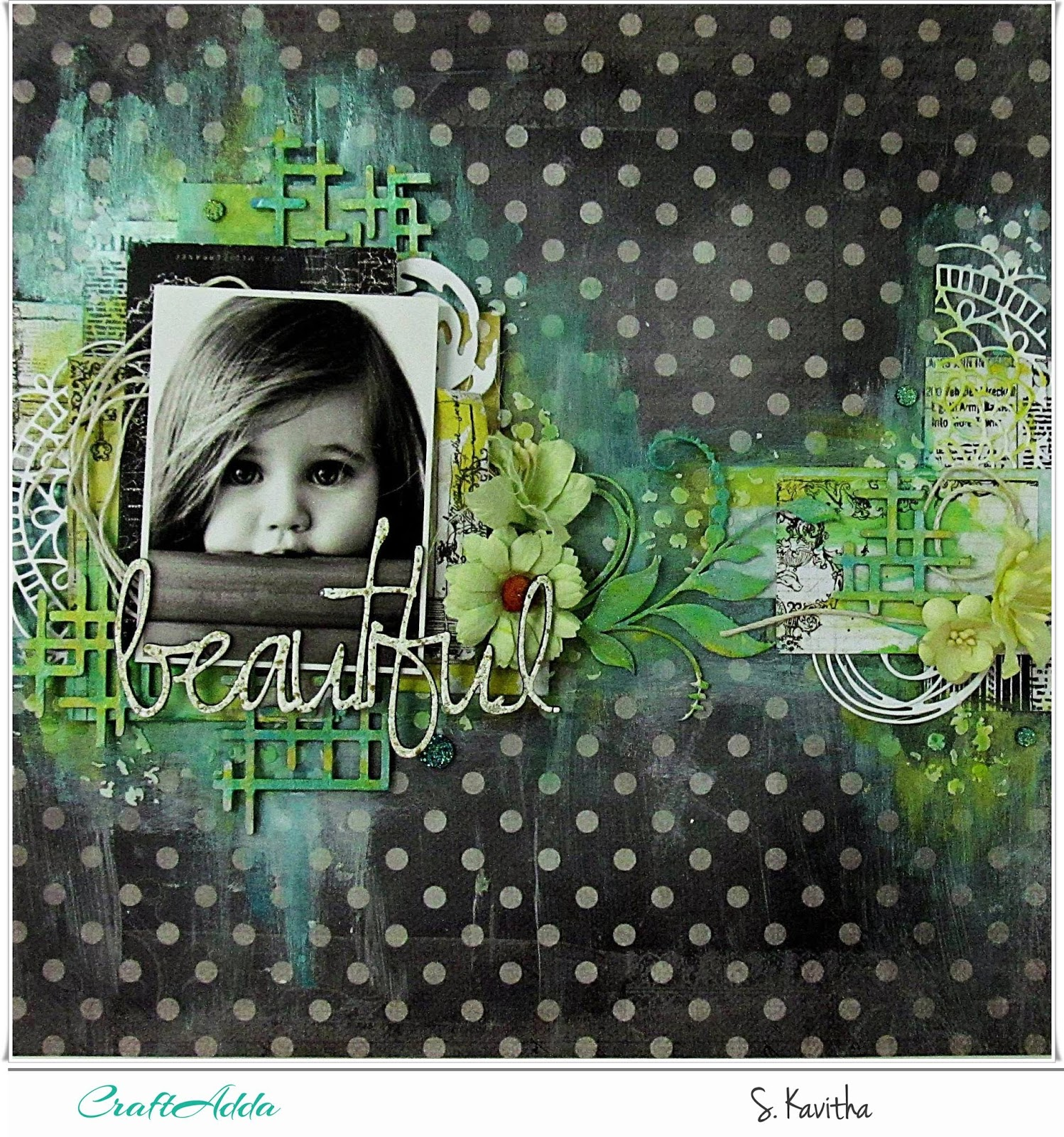 Beautiful-Mixed media layout 1