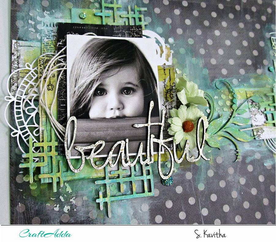 Beautiful-Mixed media layout 2