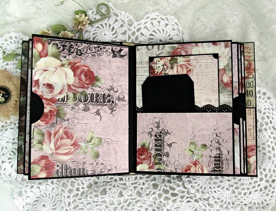 Vintage floral mini album 11