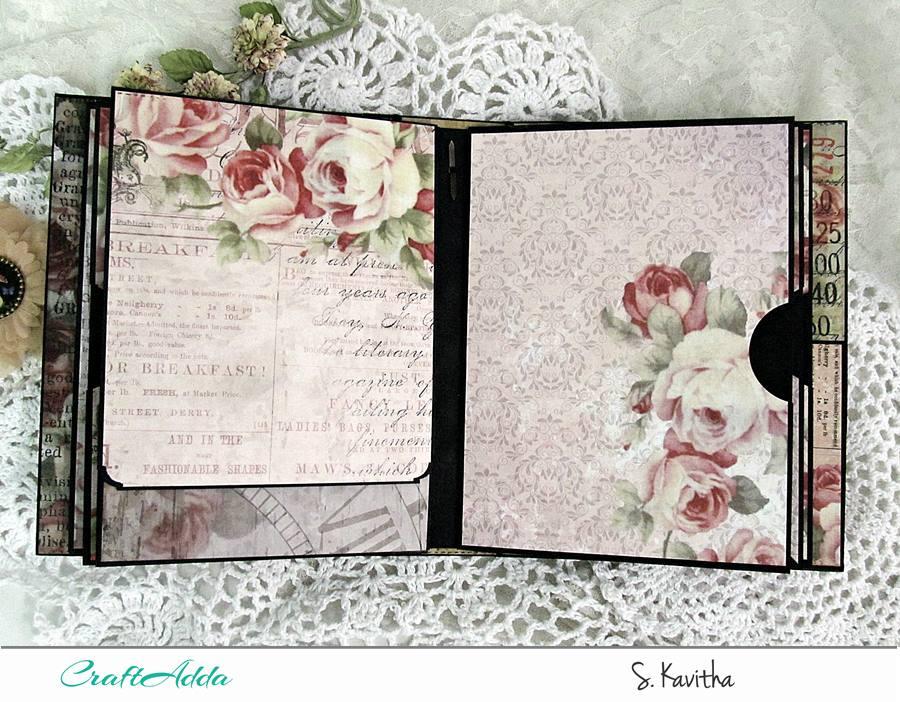 Vintage floral mini album 7