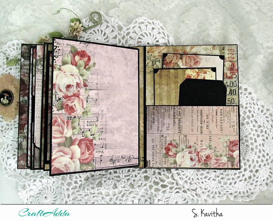 Vintage floral mini album 10