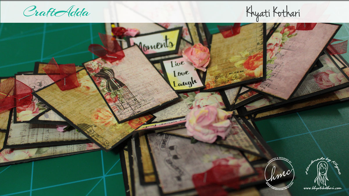 Explosion boxes made using Enchanted Blooms by CrafTangles (Video tutorial) 2