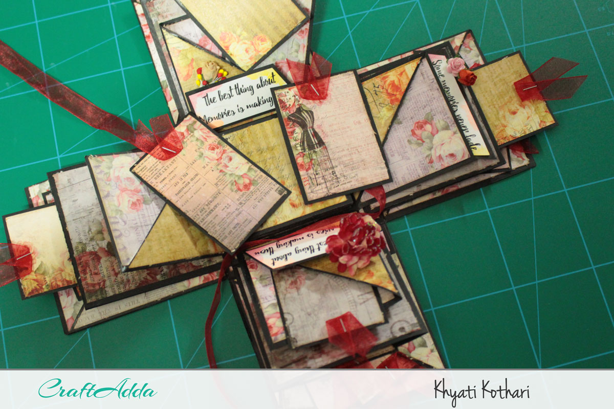 Explosion boxes made using Enchanted Blooms by CrafTangles (Video tutorial) 8