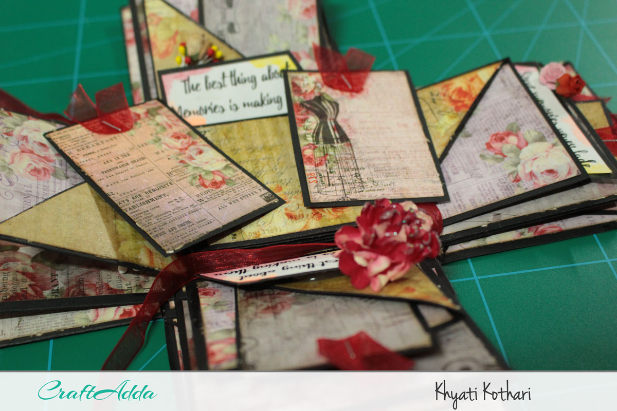 Explosion boxes made using Enchanted Blooms by CrafTangles (Video tutorial) 9