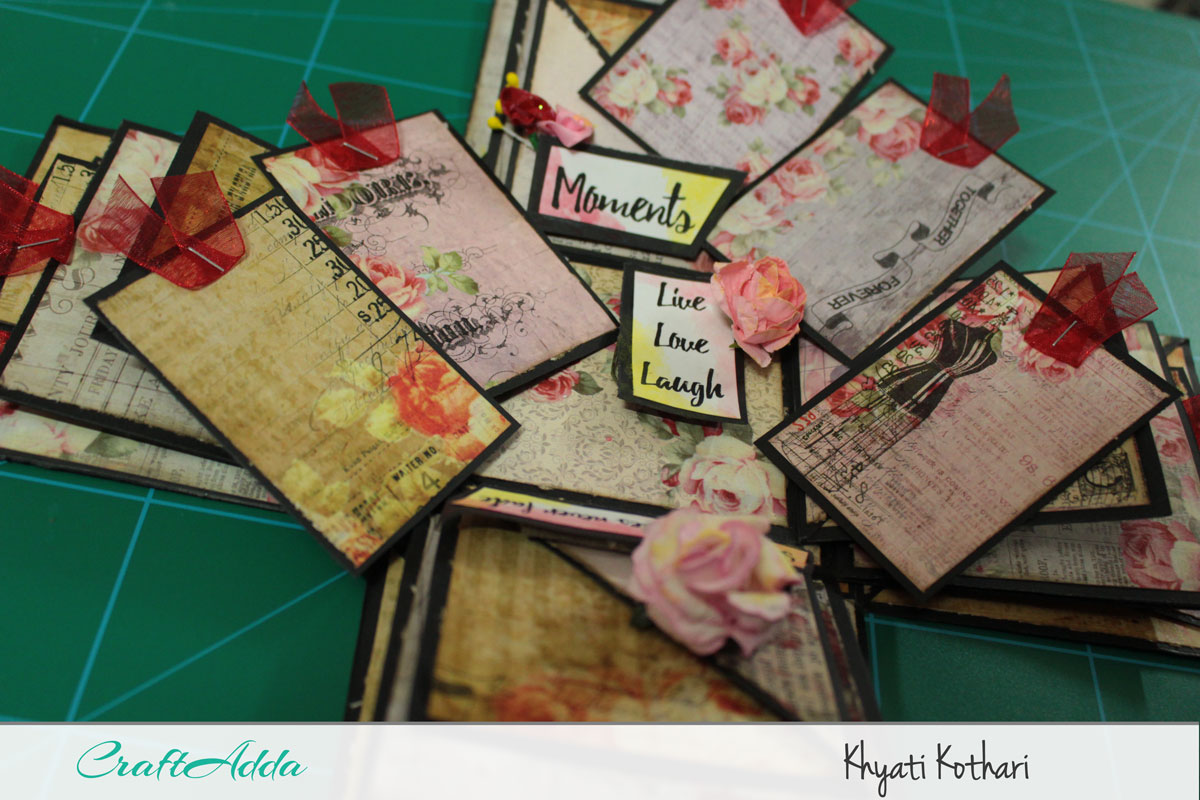 Explosion boxes made using Enchanted Blooms by CrafTangles (Video tutorial) 11
