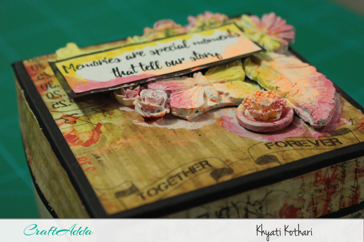Explosion boxes made using Enchanted Blooms by CrafTangles (Video tutorial) 4