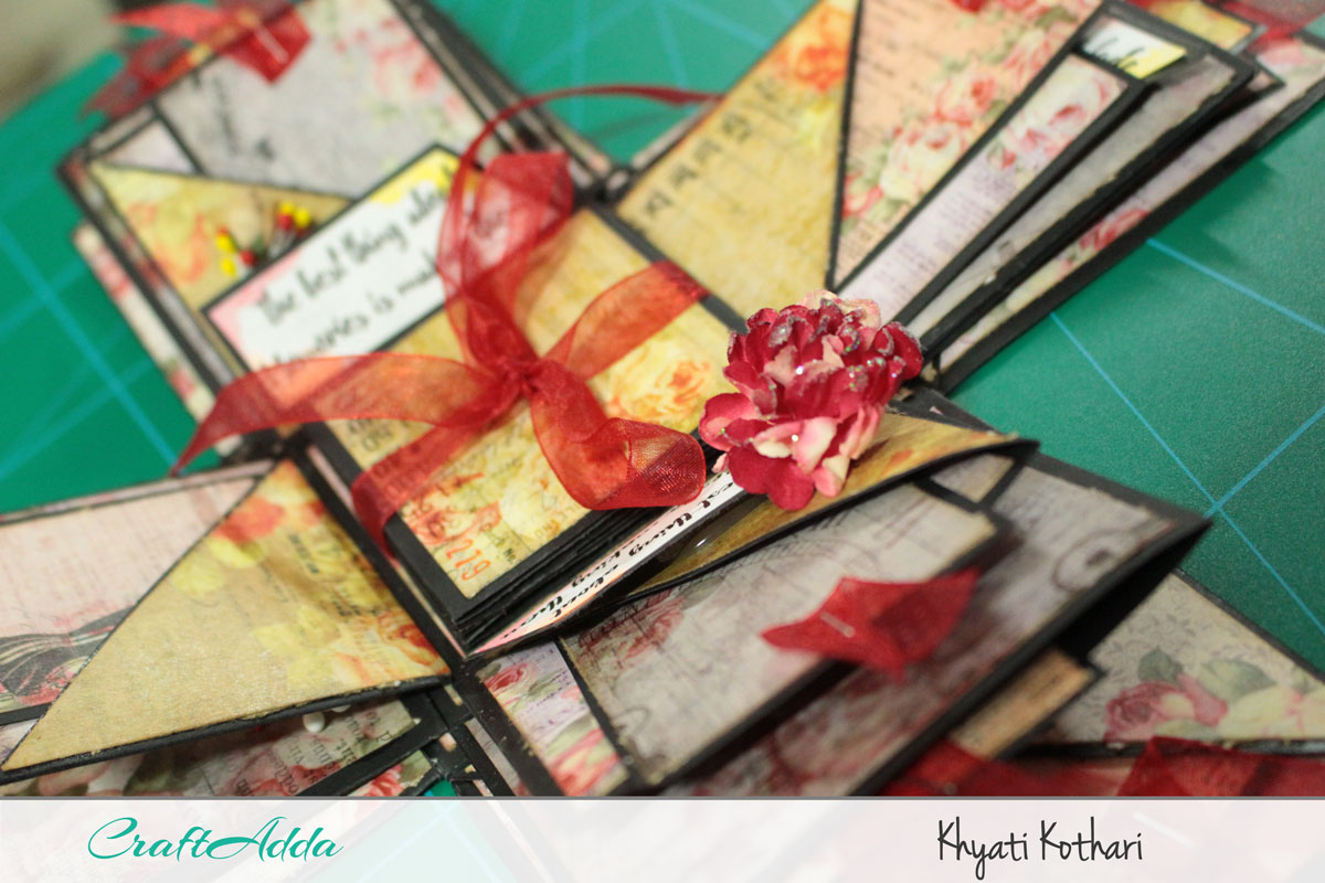 Explosion boxes made using Enchanted Blooms by CrafTangles (Video tutorial) 5