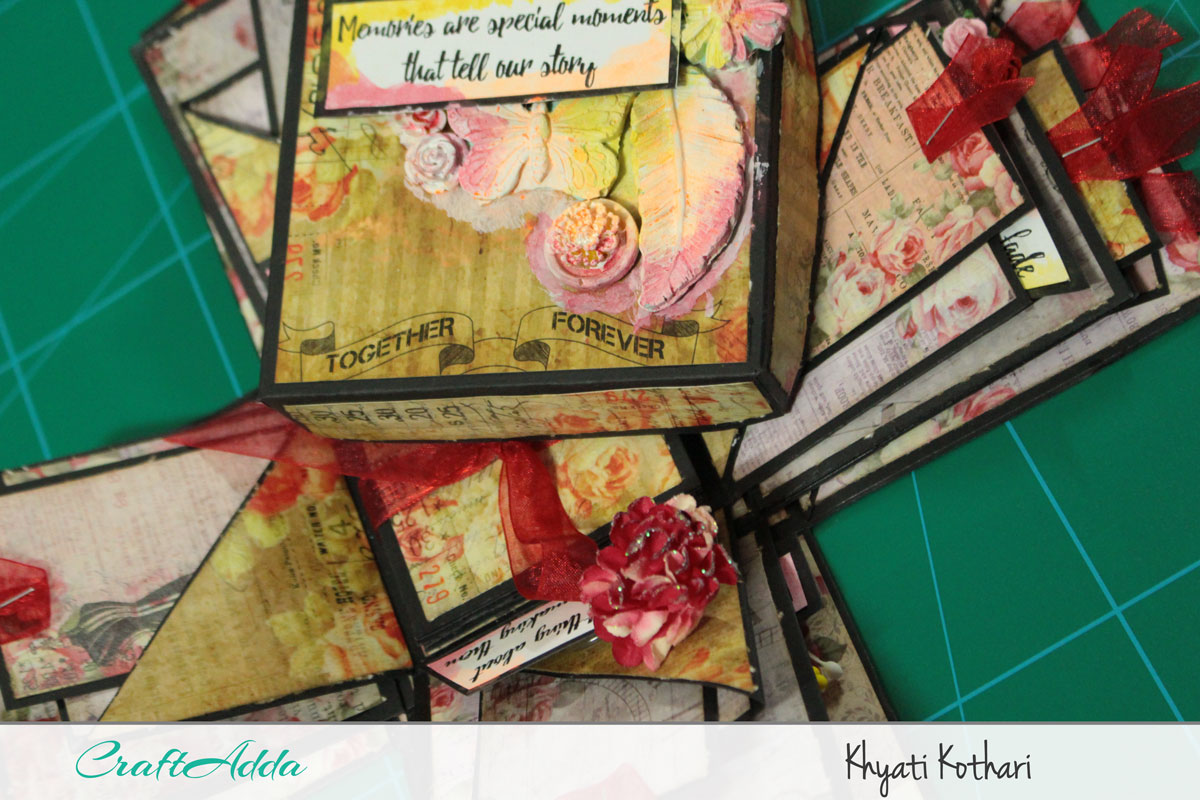 Explosion boxes made using Enchanted Blooms by CrafTangles (Video tutorial) 7