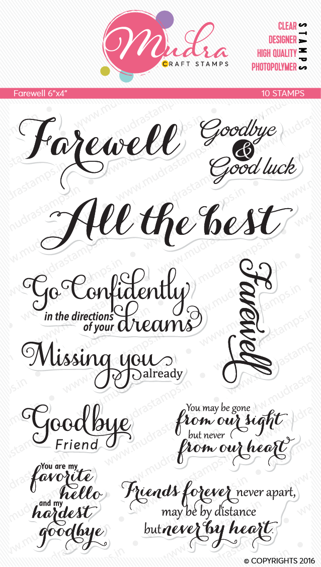 Farewell card using Mudra Craft Stamps [Guest Post by Gayatri] 6