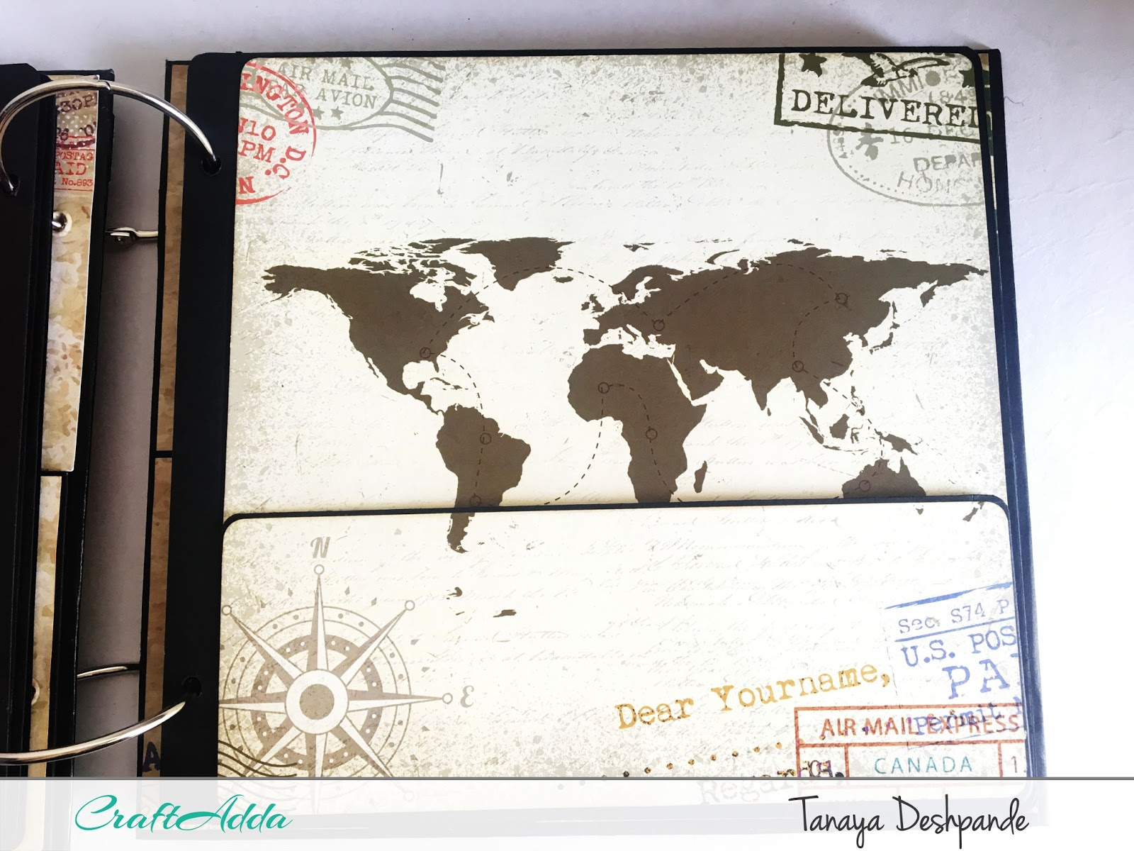 'I want to travel the world'+'Floral Elegance' Album by Tanaya 5