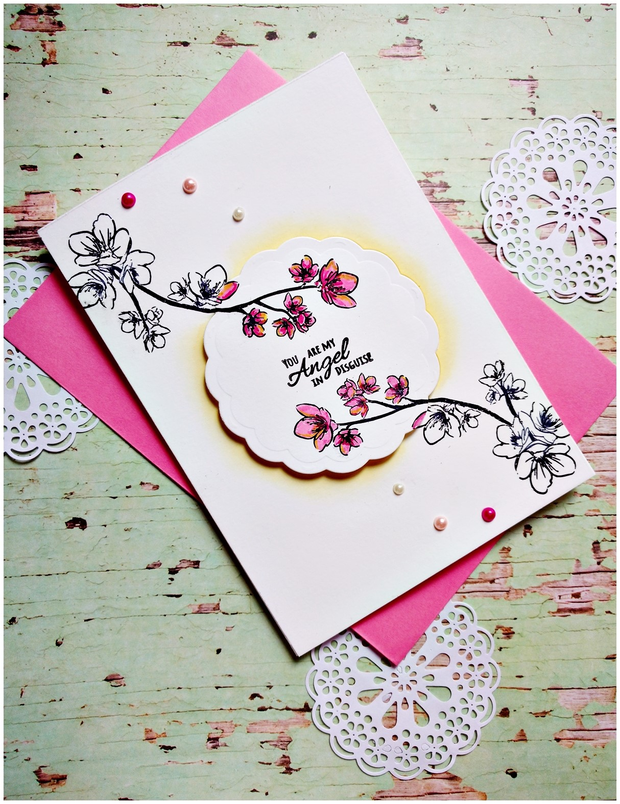 Playing around with Mom You Rock stamps from CrafTangles - Guest post by Jasleen 1