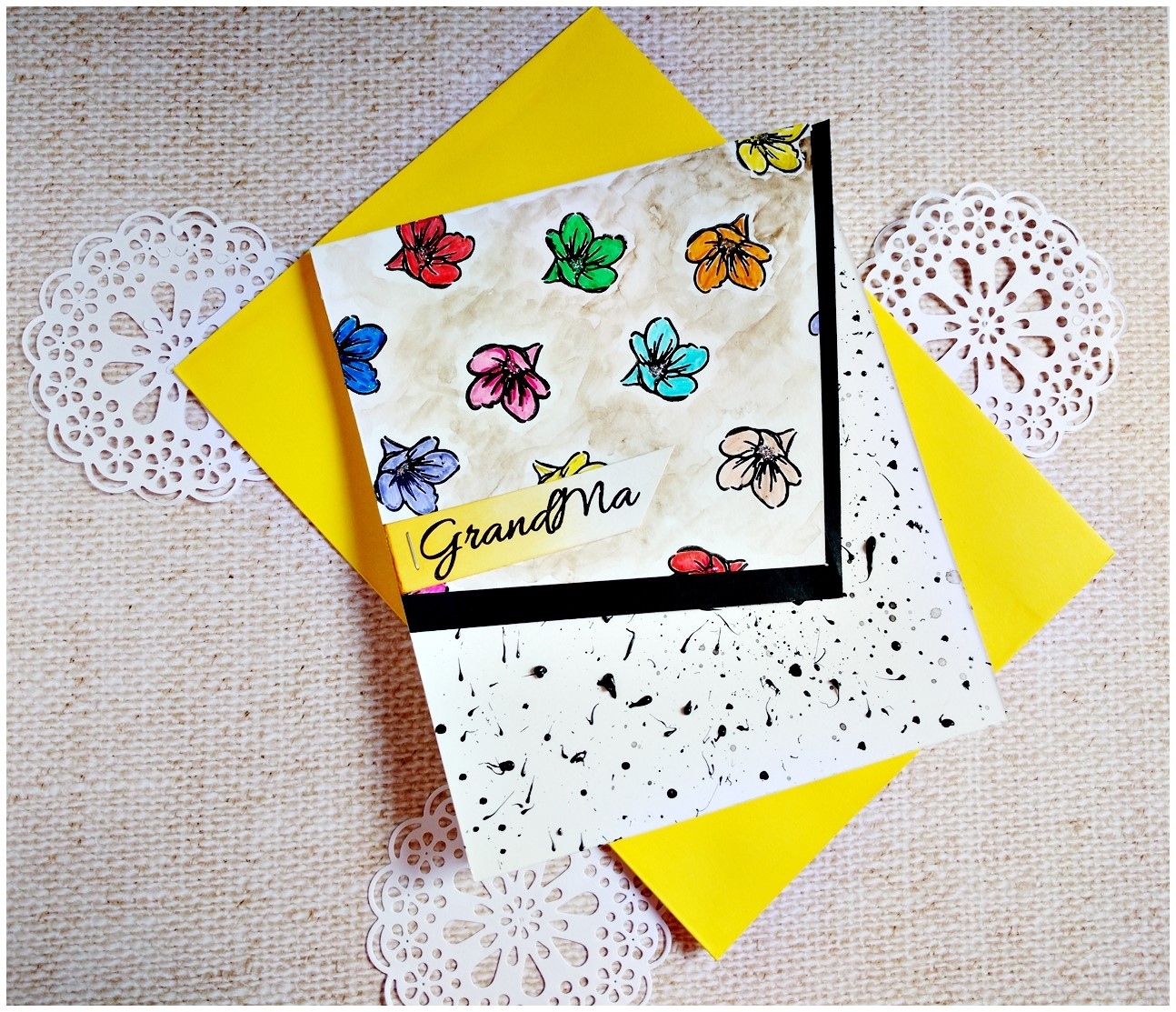 Playing around with Mom You Rock stamps from CrafTangles - Guest post by Jasleen 2