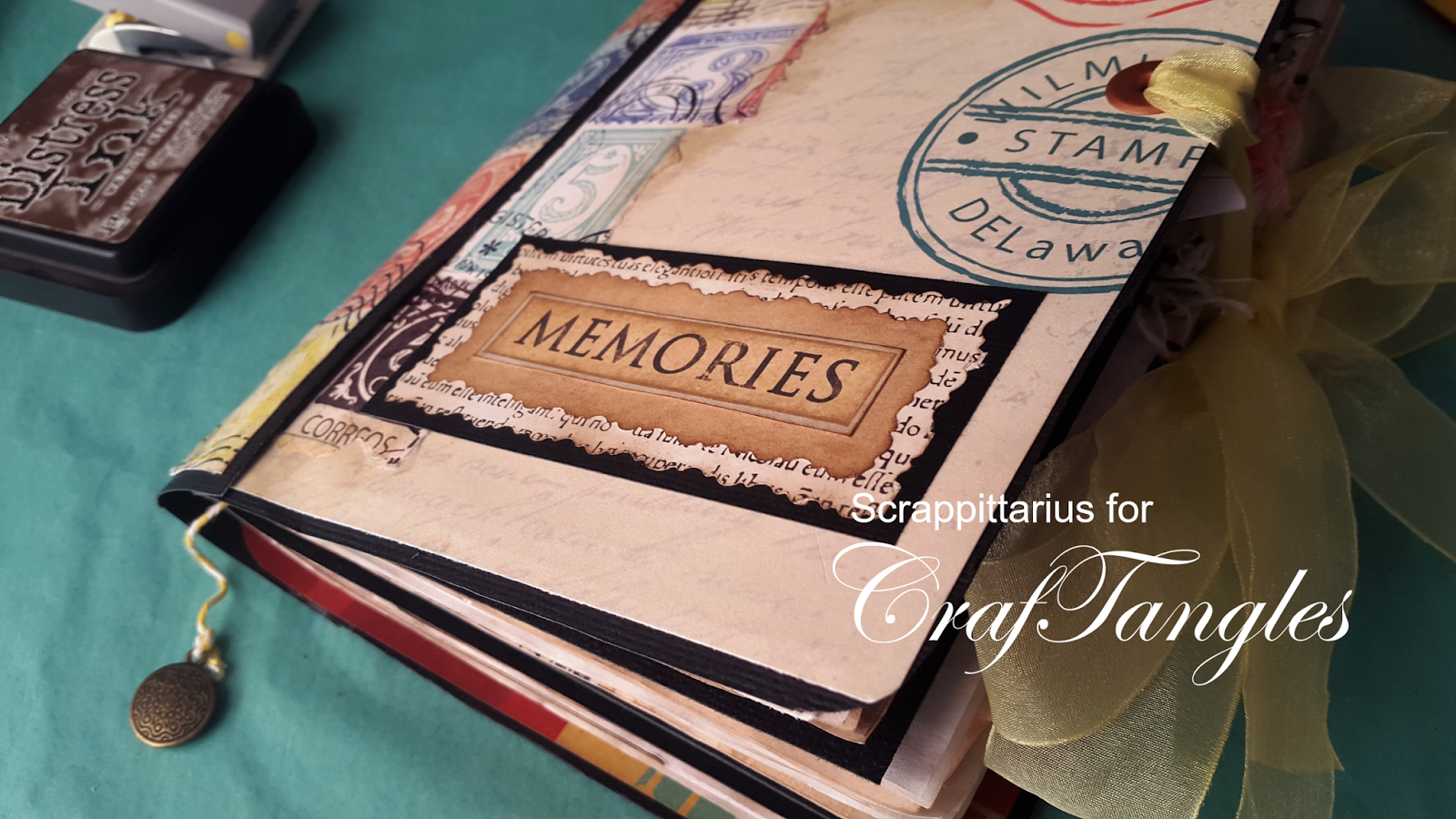 """Memories"" junk journal feat. I Travel the World by Suchismita Chatterjee Dutta 1"