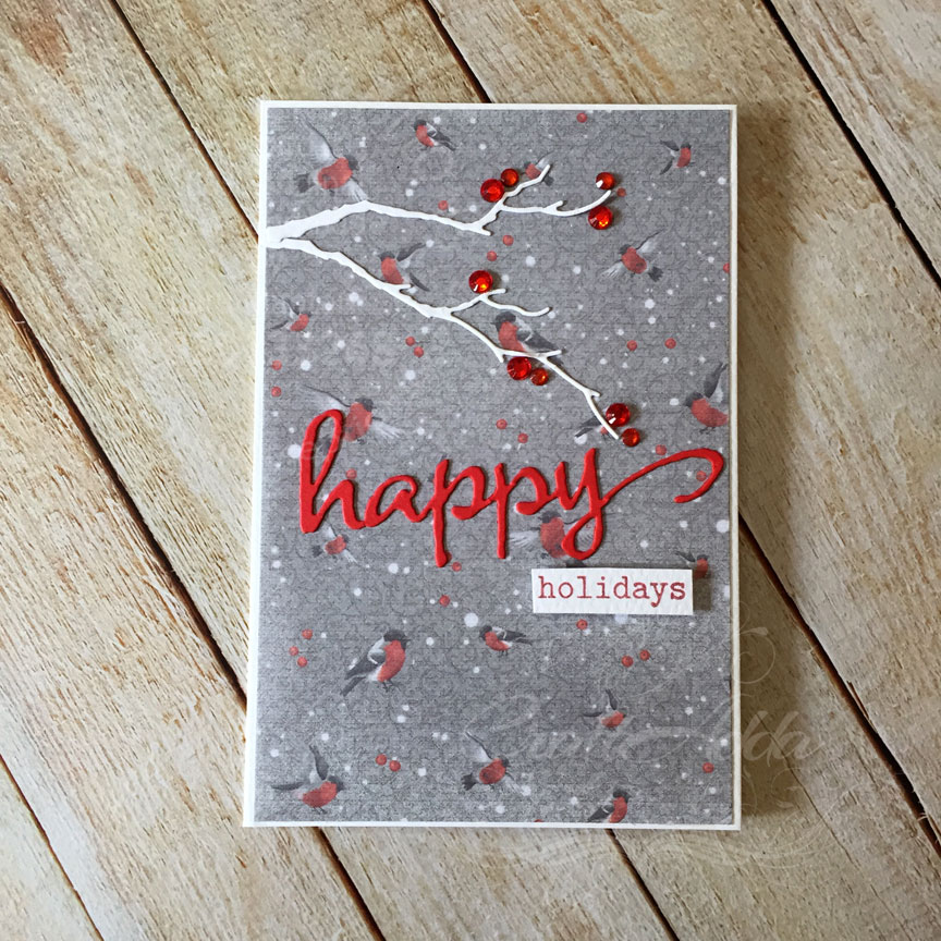 Quick and Easy Patterned paper Christmas cards Part 3 1