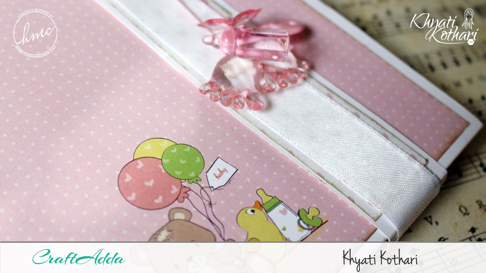 Foldable Mini Album using Baby Girl papers by CrafTangles 2