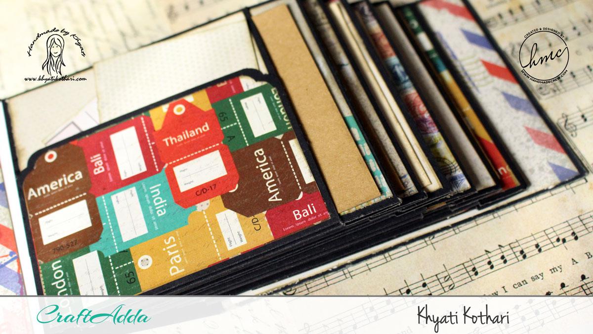 Good Times mini album using I travel the world paper pack 4