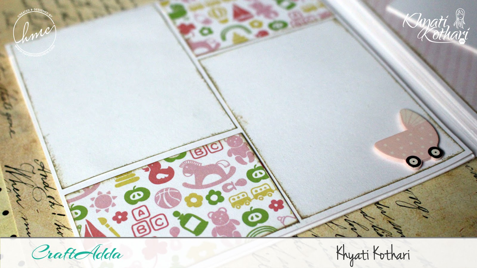 Foldable Mini Album using Baby Girl papers by CrafTangles 4
