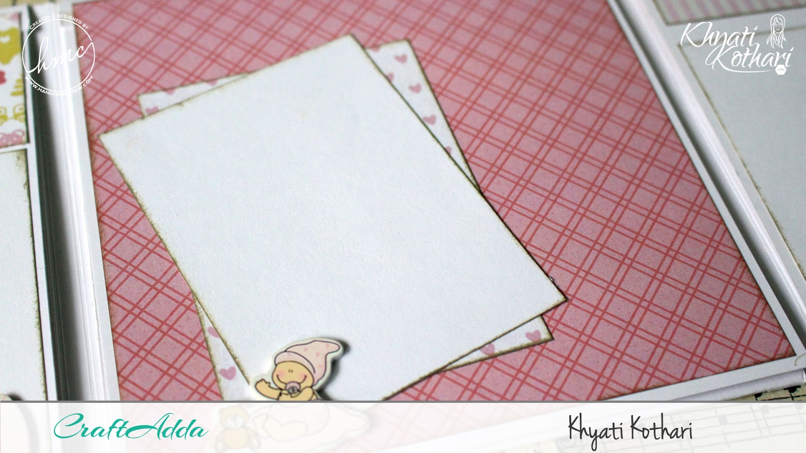 Foldable Mini Album using Baby Girl papers by CrafTangles 5