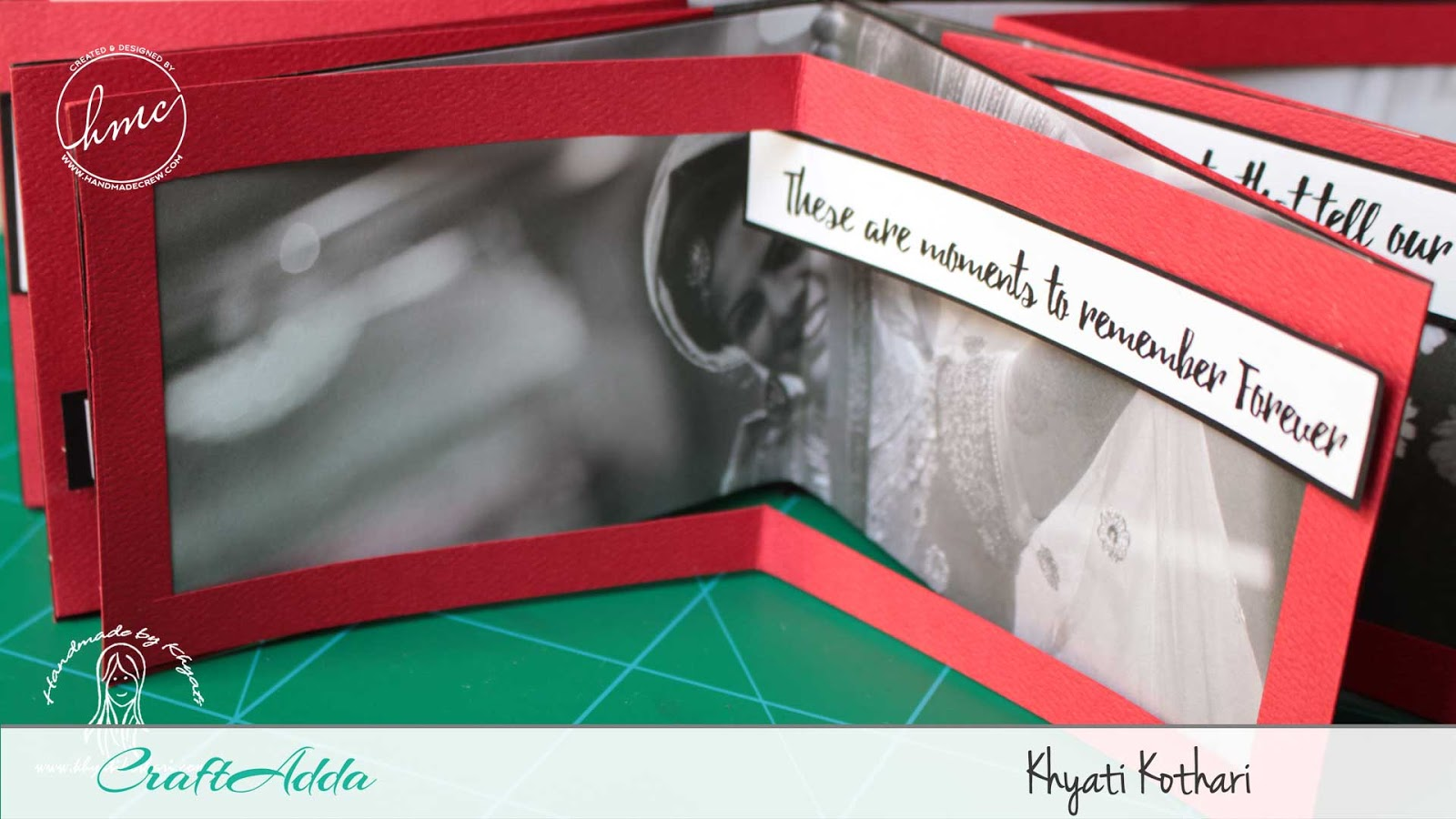 Valentine themed star book mini album using All for Love paper pack by CrafTangles 5
