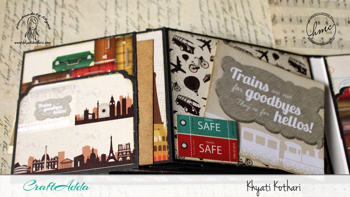 Good Times mini album using I travel the world paper pack 9