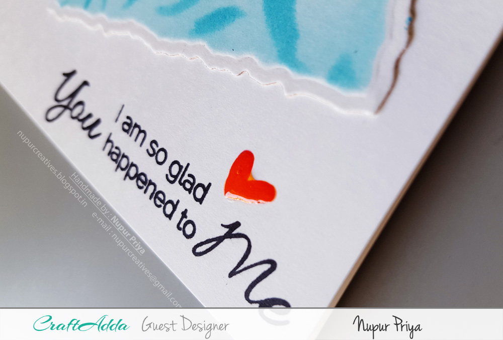 Love themed handmade cards using CrafTangles stamps and stencils by Nupur Priya 2
