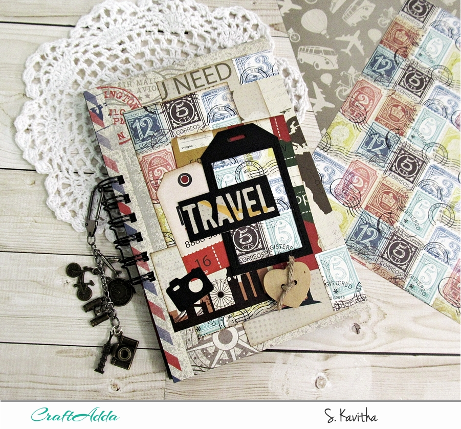 "Travel journal using ""I travel the world"" 1"