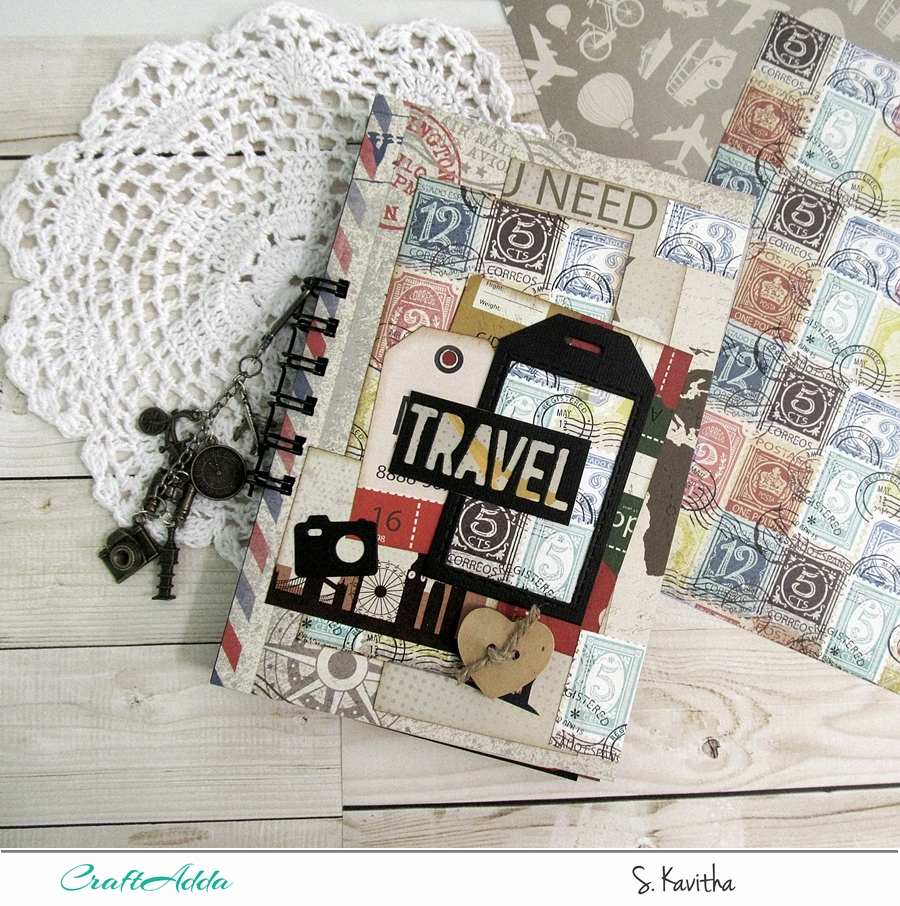 "Travel journal using ""I travel the world"" 2"