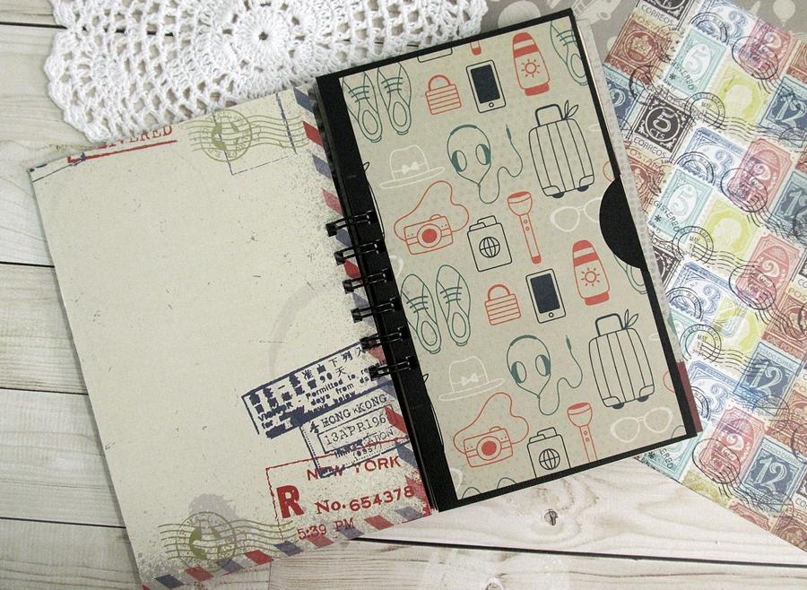 "Travel journal using ""I travel the world"" 3"