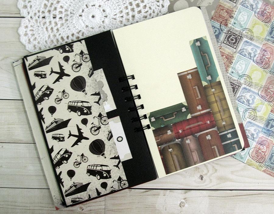 "Travel journal using ""I travel the world"" 5"