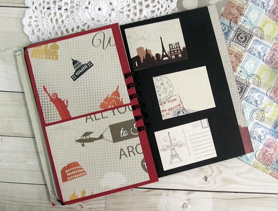 "Travel journal using ""I travel the world"" 6"