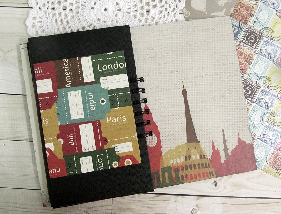 "Travel journal using ""I travel the world"" 8"
