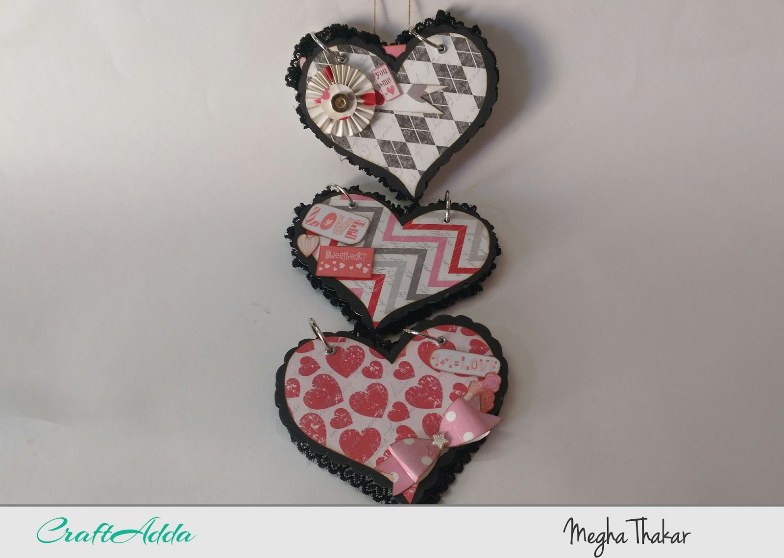Wall hanging using All for Love by CrafTangles 1